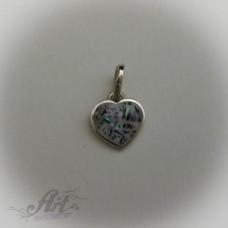 """Сребърни медальони с естествени камъни """" Сърце"""""""
