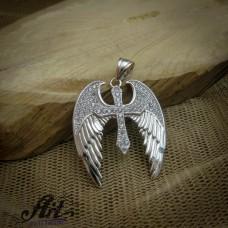 """Сребърен медальон  """"Ангелски крила"""" P-327"""