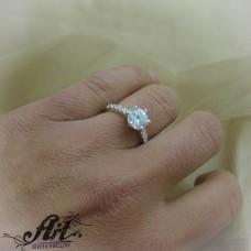 Сребърен дамски пръстен   R-702