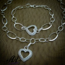 """Сребърен комплект """"Сърце"""" S-276"""