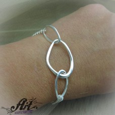 Сребърна гривна  B-324