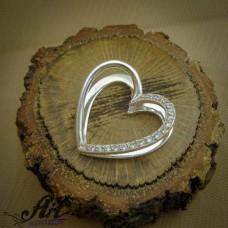 "Сребърен медальон  ""Сърце"" P-692"