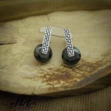 Сребърни обеци с цирконий - Е-881