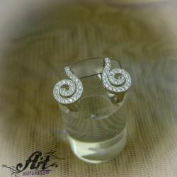 Сребърни дамски обеци  -  E-917