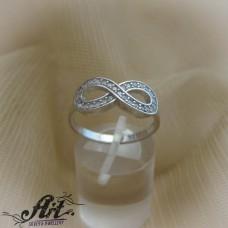 """Сребърен дамски пръстен """"Безкрайност"""" R-794"""