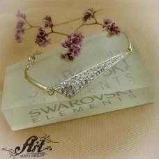 Сребърна гривна с камъни Swarovski B-001