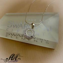 Сребърни медальони с камъни Сваровски. P-012