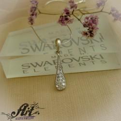 Сребърни медальони с камъни Сваровски. P-741
