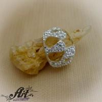 Сребърен дамски пръстен с камъни Swarovski R-300