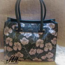 """Дамска чанта от еко кожа """"Макове"""" L-002"""