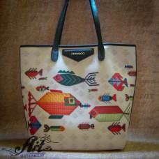 """Дамска чанта от еко кожа """"Рибки"""" L-059"""