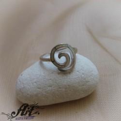Сребърен пръстен с бял седеф  R-828