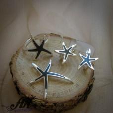"""Сребърен комплект  """"Морска звезда"""" S-319"""