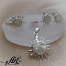"Сребърен комплект  ""Слънце"" S-324"