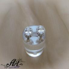 Сребърни обеци с цирконий  -  E-1018