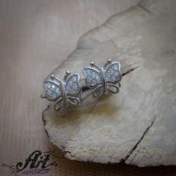 "Сребърни обеци ""Пеперуди""  -  E-1042"