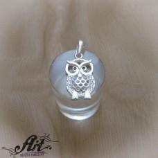 "Сребърен медальон ""Бухалче"" P-878"