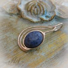 """Сребърен медальон с естествен камък """" Мъхов ахат"""" P-089"""