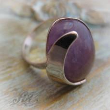 """Сребърен пръстен с естествен камък """" Аметист"""" R-416"""