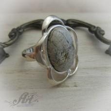 """Сребърен пръстен с естествен камък """" Вогесит"""" R-408"""