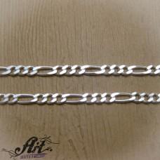 Сребърен синджир, мъжки N-284 - 50 см.