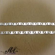 Сребърен синджир, мъжки N-285 - 50 см.