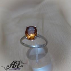 Сребърен дамски пръстен с естествен камък султанит R-922