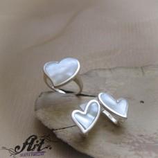"""Сребърен комплект  """"Сърце"""" S-355"""