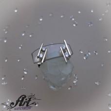 Сребърни обеци с цирконий - E-1106