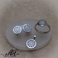 Сребърен дамски комплект S-0371