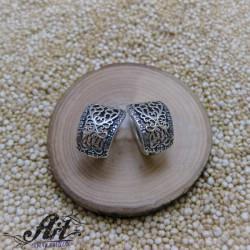 """Сребърни обеци """"Цвете"""" E-1190"""