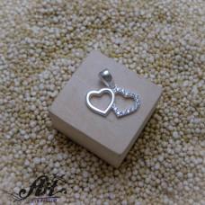 "Сребърен медальон ""Сърце"" P-1067"