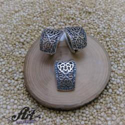 """Сребърен дамски комплект """"Цвете"""" S-1404"""