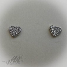 Сребърни обеци с цирконий - E-407