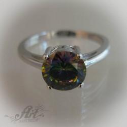 Сребърен дамски пръстен с цирконий R-428