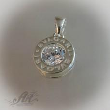 Сребърен медальон с цирконий P-109