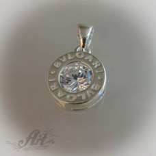 "Сребърен медальон с цирконий "" Bvlgari "" P-109"