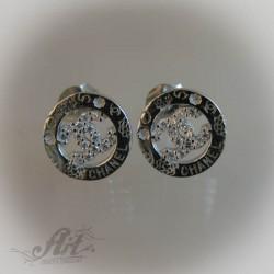 Сребърни обеци с цирконий - E-461