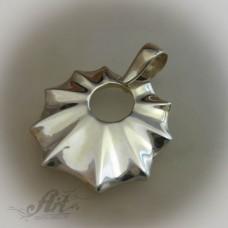 "Сребърен медальон "" Листо"" P-128"