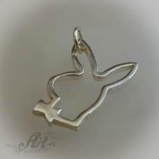 """Сребърен медальон  """" Плейбой"""" P-130"""
