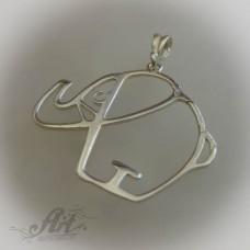 """Сребърен медальон """" Слонче"""" P-131"""