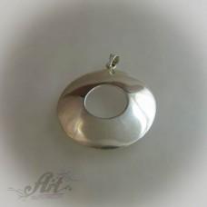 Сребърен медальон  без камъни P-133