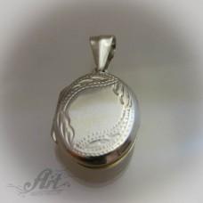 Отварящ се сребърен медальон  за снимка P-144