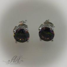 Сребърни обеци с цирконий -  E-456