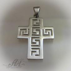 """Сребърен кръст """"Версаче"""" P-179"""