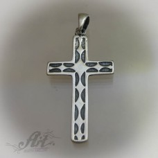 """Сребърен кръст """" Орнаменти"""" P-186"""
