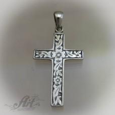 """Сребърен кръст """" Орнаменти"""" P-188"""