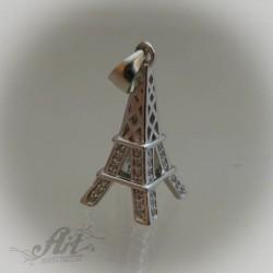 "Сребърен медальон с цирконий "" Париж"" P-266"