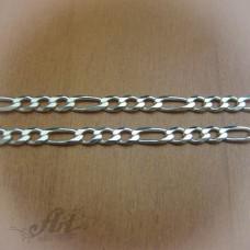 Сребърен синджир, мъжки N-048 - 50 см.