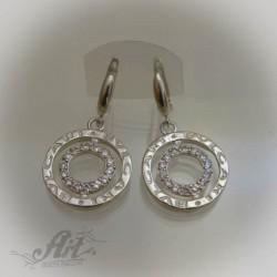 Дамски сребърни обеци на BVLGARI - E-467